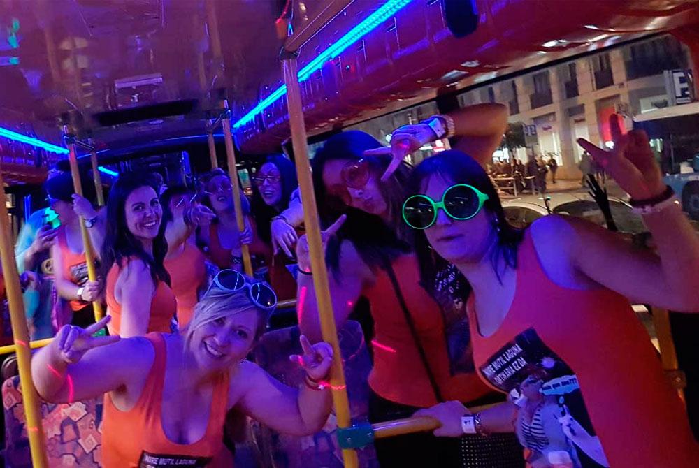 Transporte para despedidas de soltero y soltera en Madrid: Partybus