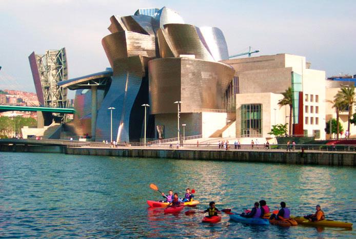 actividades en canoa Bilbao