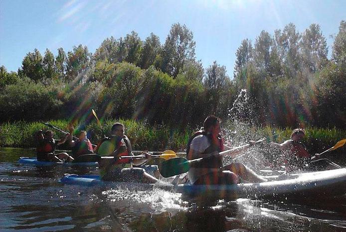 Actividades para despedidas con piraguas en Salamanca