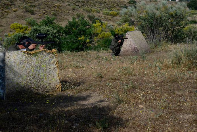 Campo natural de paintball en Salamanca