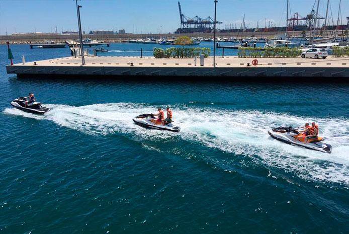 Despedida de soltero con moto de agua en Valencia