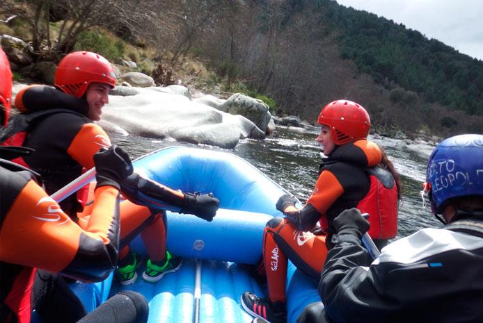 Despedidas diferentes con rafting en Salamanca