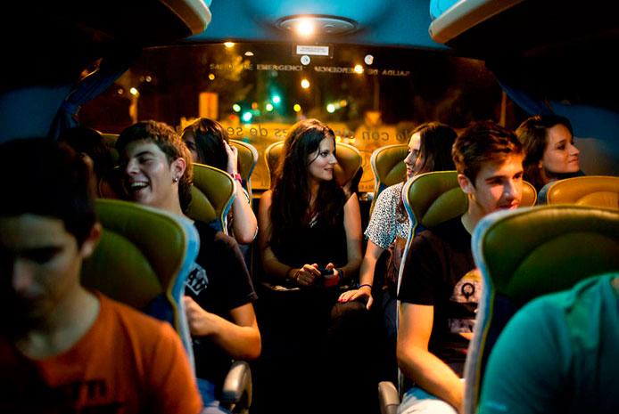 Minibús para despedidas en Madrid