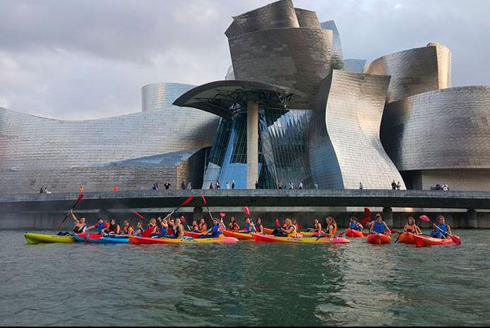piraguas y canoas Bilbao