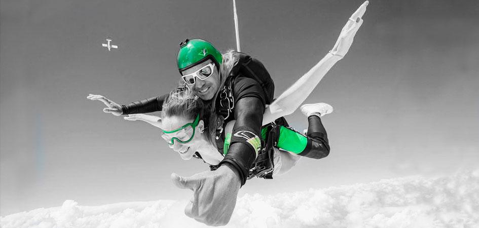 Salto en paracaídas en Barcelona