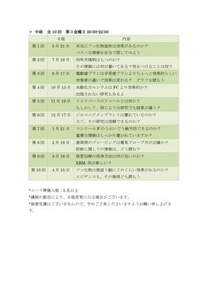 【EPSDC研修会】宮下裕志のEBMオンラインセミナー 2021年度スケジュール《中級講座》
