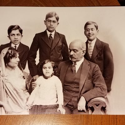 Begum Habibullah with family in England