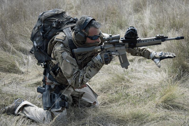 Military operation with gunshot detector