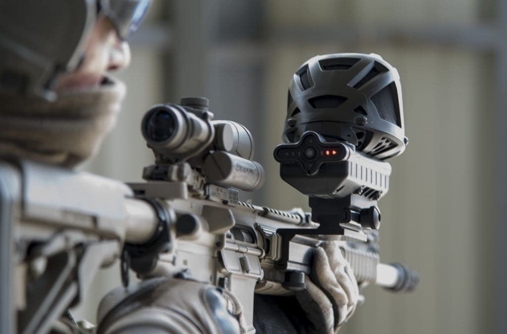 Assault riffle equipped with gunshot detector