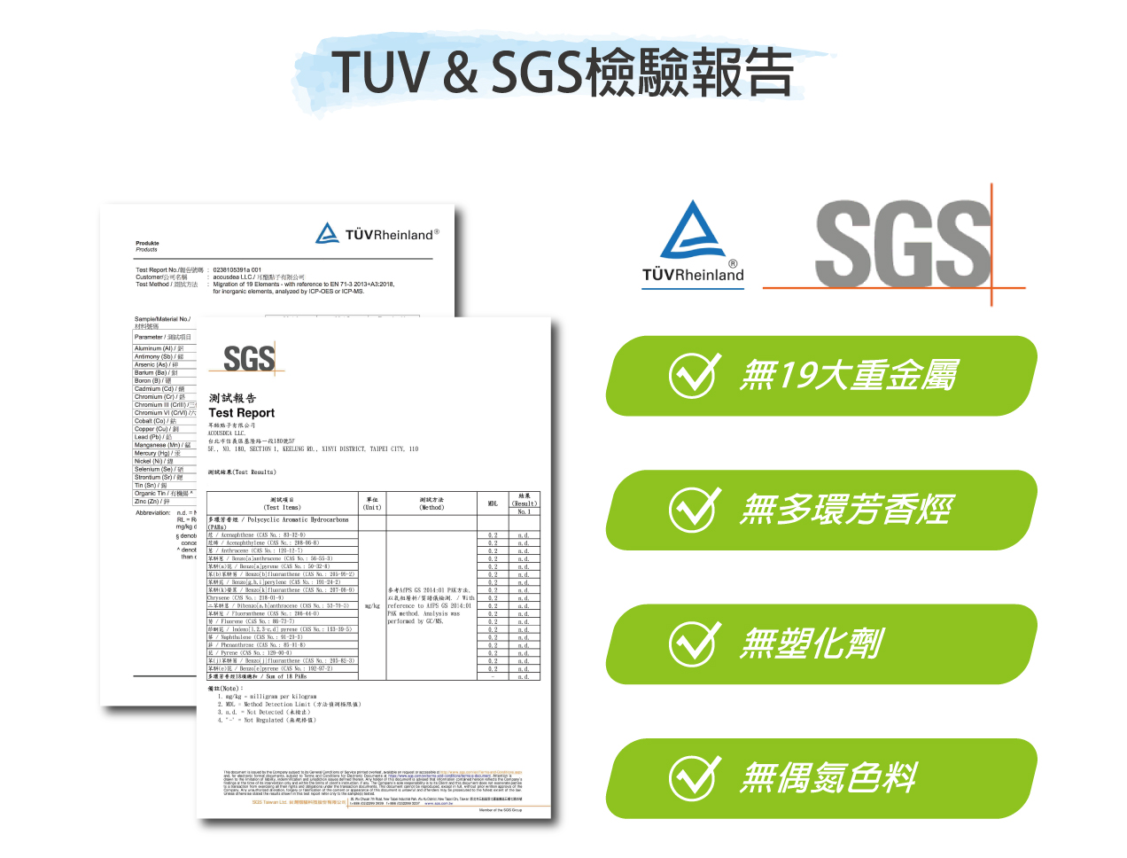 TUV,SGS 檢驗報告