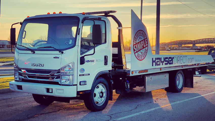 Kayser Direct Delivery Truck in the sunset