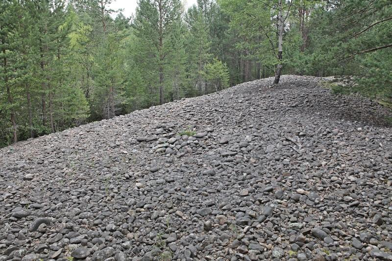 На реке Большая котинка (Байкал) россыпное золото перестали добывать больше 50 лет назад, но природа так и не восстановилась. фото О.Вещева