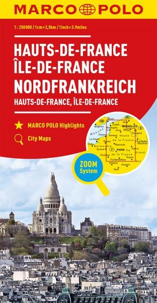 MARCO POLO Karte Frankreich Hauts-de-France