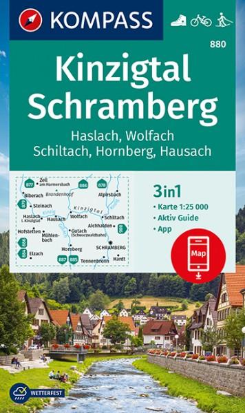 KOMPASS Wanderkarte Kinzigtal Schramberg, Haslach
