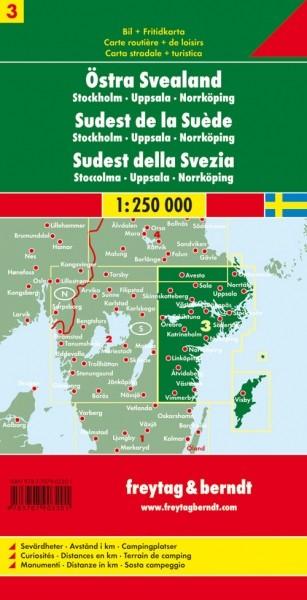 F&B Autokarte Schweden Südost