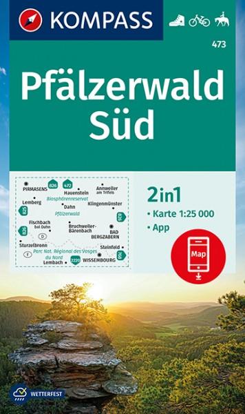 KOMPASS Wanderkarte Pfälzerwald Süd