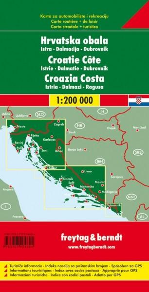 F&B Autokarte + Freizeitkarte Kroatien Küste