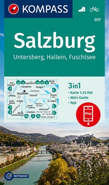 KOMPASS Wanderkarte Salzburg,Untersberg,Hallein