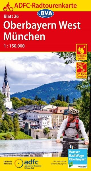 ADFC-Radtourenkarte 26 Oberbayern West/München