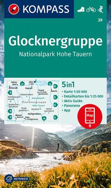 KOMPASS Wanderkarte Glocknergruppe