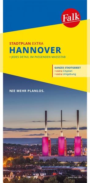 Falk Stadtplan Extra Standardfaltung Hannover