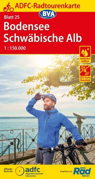 ADFC-Radtourenkarte 25 Bodensee/Schwäbische Alb