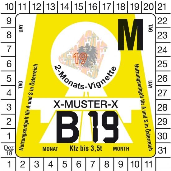 Österreich PKW Vignette - 2M