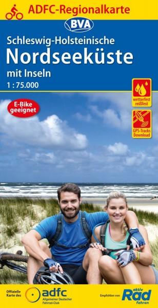 ADFC Regionalkarte Schleswig-Holstein Nordseeküste