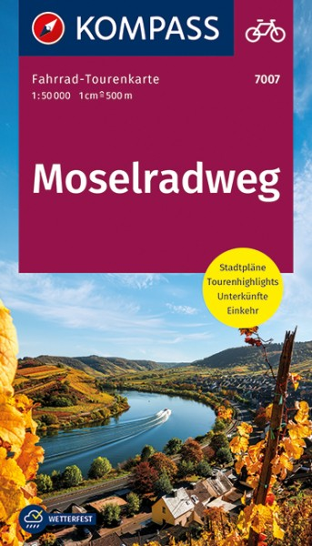 KOMPASS FahrradTourenkarte Moselradweg