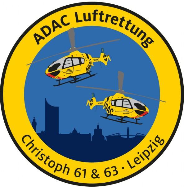 ADAC Luftrettung Fanpatch Christoph 61&63-Leipzig