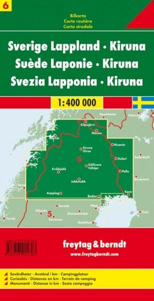 F&B Autokarte Schweden Lappland - Kiruna