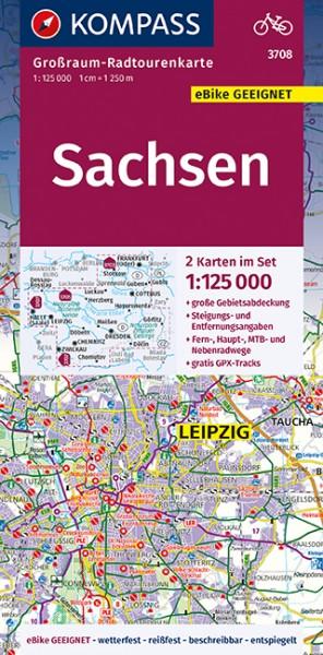 KOMPASS Karte Sachsen