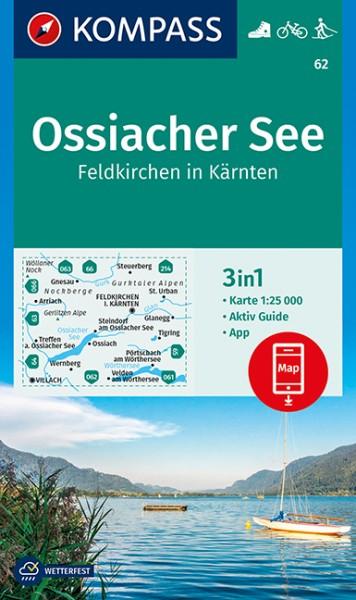 KOMPASS Wanderkarte Ossiacher See, Feldkirchen