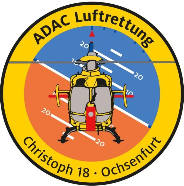 ADAC Luftrettung Fanpatch Christoph 18-Ochsenfurt