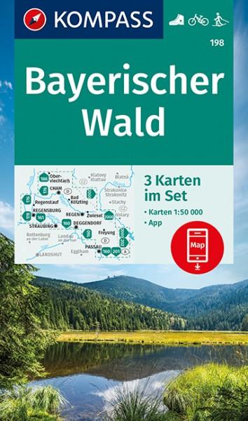KOMPASS Wanderkarte Bayerischer Wald 3er-Set