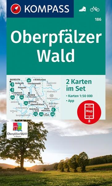 KOMPASS Wanderkarte Oberpfälzer Wald 2- teilig.Set