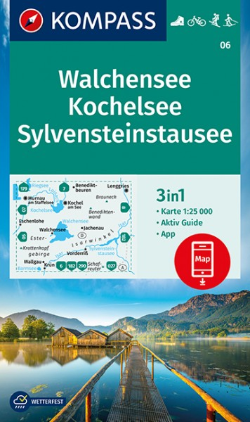 KOMPASS Wanderkarte Walchensee, Kochelsee