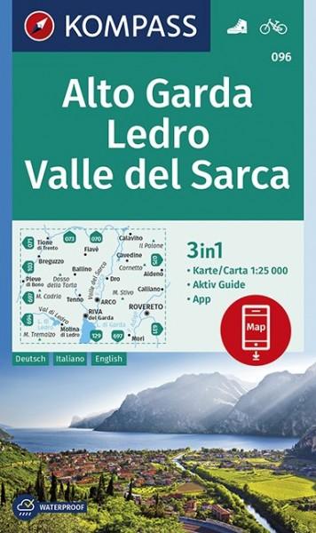 KOMPASS Wanderkarte Alto Garda, Ledro