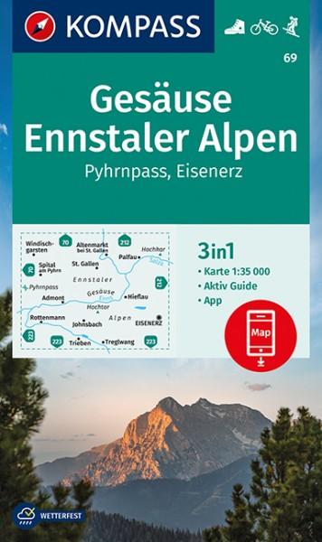 KOMPASS Wanderkarte Gesäuse, Ennstaler Alpen