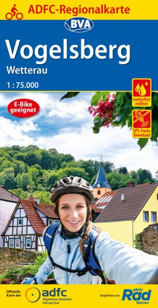 ADFC Regionalkarte Vogelsberg / Wetterau
