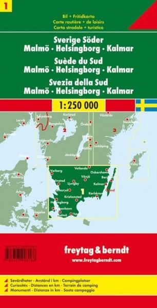 F&B Autokarte Schweden Süd