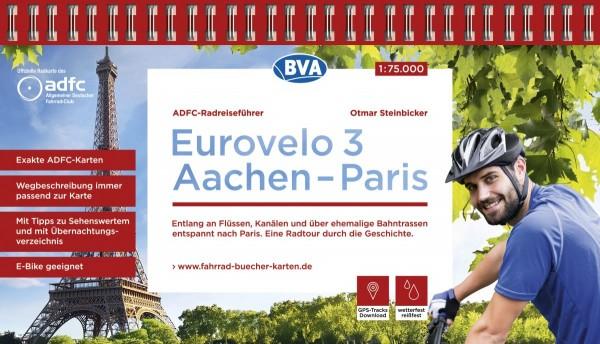 ADFC-Radreiseführer Eurovelo 3 Aachen - Paris