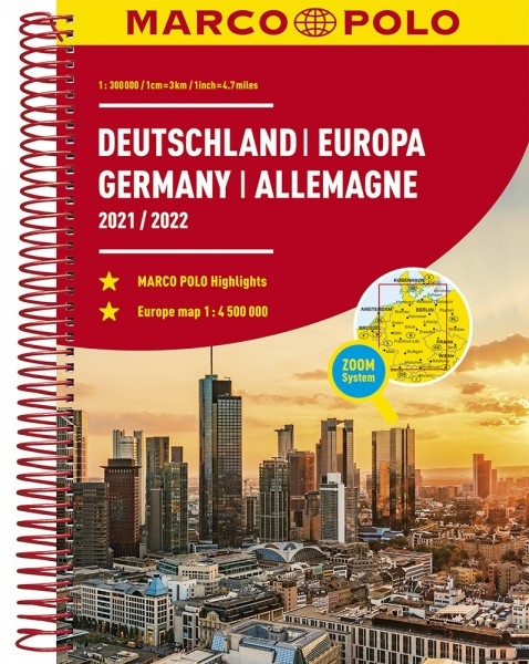 MARCO POLO Reiseatlas Deutschland/Europa 2021/2022