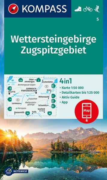 KOMPASS Wanderkarte Wettersteingebirge