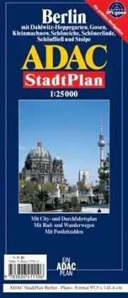 ADAC Stadtplan Berlin - plano