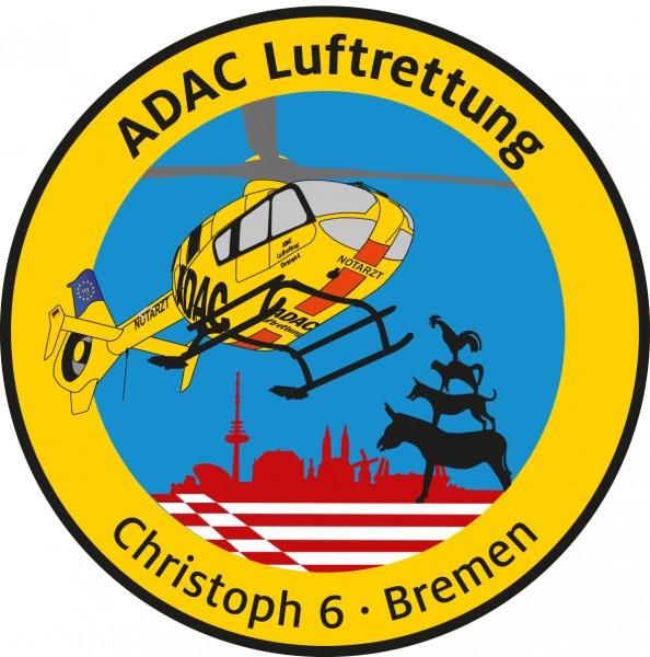 ADAC Luftrettung Fanpatch Christoph 6-Bremen