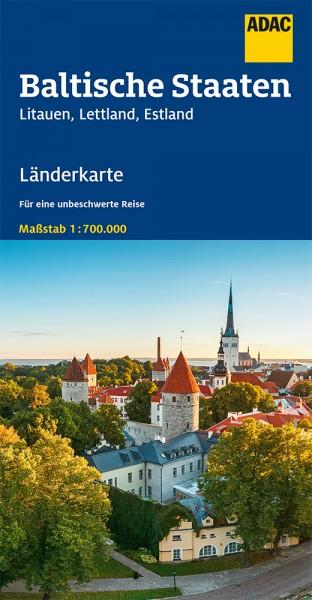 ADAC LänderKarte Baltische Staaten 1:700 000