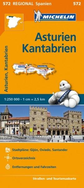Michelin Regionalkarte Asturien, Kantabrien