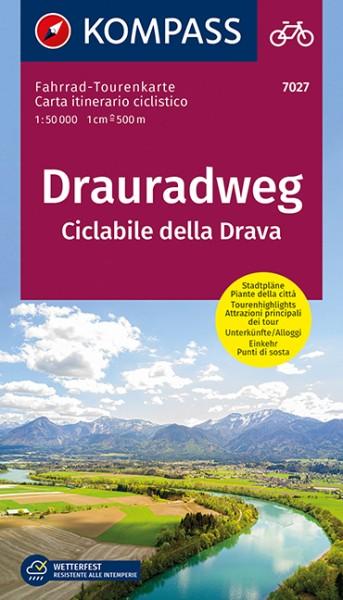 KOMPASS FahrradTourenkarte Drauradweg