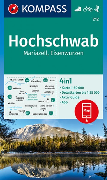 KOMPASS Wanderkarte Hochschwab, Mariazell